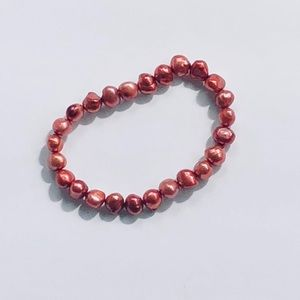 Jewelry - Black Cherry Cultured Pearl Stretch Bracelet